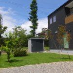 天然芝の庭の施工例